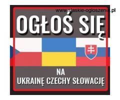 Ogłoś się na Ukrainie ,Słowacji w Czechach / Dodawanie ogłoszeń na Ukrainę ,Czechy , Słowację